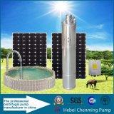Bomba submergível da célula solar do poço profundo de 4 polegadas com células solares