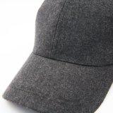 Polyester-u. Wolle-Qualitätswarme normale graue Baseballmütze