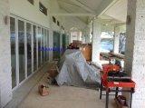 Подгонянная алюминиевая Bifold дверь с двойной застеклять