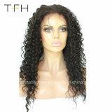 도매 브라질 Virgin 머리 깊은 파 150% 조밀도 사람의 모발 가발