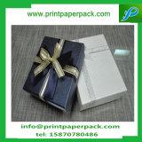 Rectángulos de lujo del favor del regalo de los dulces del diseño del recorte con los lazos de la cinta