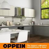 Oppein Projekt-hölzerner Melamin-Küche-Schrank (OP15-M01)
