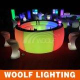 Changement de couleur en plastique autour du compteur de barres de courbes à LED ronde