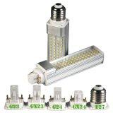 Luz de bulbo vendedora superior de la lámpara LED del G-24 E27 Pl de los productos 7W G23