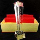Трофей кристалла звезды пожалования материального высокого качества K9 стеклянный