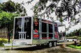 ホットドッグの移動式食糧トレーラーのウォーマーのコーヒー食糧カート