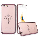 Caisse de vente chaude de diamant de TPU pour l'iPhone 6
