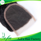 Chiusura brasiliana del merletto dei capelli umani del Virgin superiore 7A