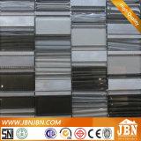 Krystal連結パターン8mmガラスの金属のブレンドのモザイク・タイル(M855062)