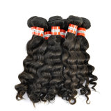 Extensões profundas peruanas do cabelo humano de Remy da onda do Virgin