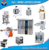 Macchina di fabbricazione di pane dell'insieme completo forno rotativo (miscelatore, modellatore, proofer, forno bollente)