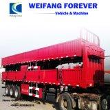 中国の良質3axleの平面貨物トレーラーか側面の半トレーラー