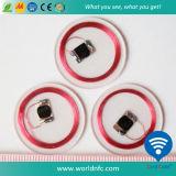 Alta calidad 13.56MHz Ntag213 RFID Coin Card