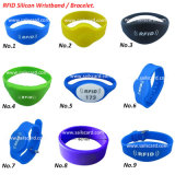Wristbands impermeables de la frecuencia ultraelevada RFID del Hf del silicón o pulsera de RFID