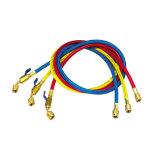 Rosso/colore giallo/tubo flessibile di carico Refrigerant blu/nero con la valvola a sfera
