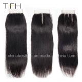 工場直接9A Viginブラジル4*4インチの毛の閉鎖のToupee