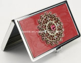 Arco en forma de titular de la tarjeta de visita de aluminio, elegante titular de la tarjeta de nombre