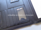 Brown A4 Leather Business Portfolio avec Notepad Holder