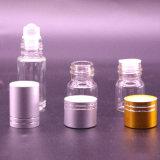 Cilindro Mini claro de vidro vazio vaso de perfume Roll-on