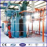 Máquina de acero del chorreo con granalla de la percha de la limpieza de la superficie del cilindro