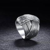 [رترو] أسلوب مجوهرات فضة يصفّى حلقة بدون حجارة