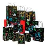 Мешок подарка изготовленный на заказ праздника рождества Накалять-в--Темный, комплект подарка с уникально светящими праздничный конструкциями & картины