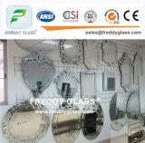 De duidelijke Zilveren Spiegels van de Badkamers van de Spiegel van het Koper Mirrro Vrije Zilveren
