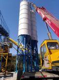 centrale de malaxage concrète mobile préfabriquée cubique de l'arbre 25 à 180 jumel avec la machine de traitement en lots de mélangeur