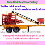 A máquina do tijolo do reboque podia conduzir, máquina do tijolo instala no reboque