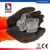 La paume de doublure de courant ascendant d'en 511 a plongé les gants résistants froids de l'hiver chaud enduit en caoutchouc