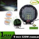 CREE negro de 9 pulgadas de 320 W de luz de trabajo automático de luces de conducción de LED