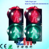 Sinal cheio de piscamento Certificated En12368 da esfera do diodo emissor de luz da boa qualidade 200/300/400mm para o cruzamento Pedestrian