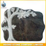 Granito poco costoso del Headstone dell'albero della piastra del cimitero