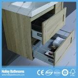 LEDの接触スイッチセットされる新しい現代木製のカシの浴室のキャビネットの単位デザイン新式の浴室(BF119M)