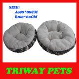 연약한 편리한 Flannel 개 침대 (WY161076-3A/B)