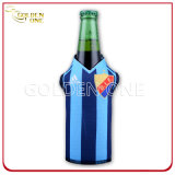 Impreso de neopreno Superior Botella de Cerveza Stubby Titular con cremallera