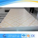 Tuile perforée de plafond de gypse de la tuile 603*603*9mm/PVC de plafond de gypse stratifiée par PVC