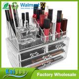 Organisateur cosmétique acrylique d'étalage de cas de mémoire de renivellement et de bijou avec le tiroir 4