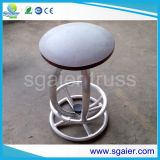 Tableau en aluminium de botte, selles Quatro, table ronde en aluminium