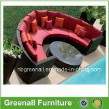 ベッド/ソファーとして屋外のための柳細工のソファーセット