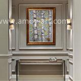 Pittura a olio Handmade dell'albero di betulla bianca per la decorazione della parete
