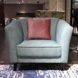 Verde tejido del asiento sofá para Salón
