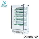 Supermercado Aberto Comercial vertical de refrigerantes do chiller do Ar Fresco