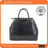 2015年のワニの方法優雅な先端の卸売の女性革ハンドバッグ