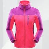 Куртка отдыха ватки напольного спорта зимы застежки -молнии лыжи Microfleece Unisex полная