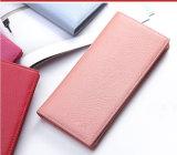 Кожаный кошелек паспорта владельца карточки женщин дамской сумочке