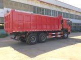 HOWO 30ton 화물 자동차 팁 주는 사람 트럭 6X4 336HP 무거운 쓰레기꾼 트럭