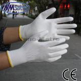 Перчатки Coatd ладони PU Nmsafety белые