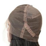 El Color Natural Brazalian encaje completo Virgen recta peluca peluca trama cabello humano.
