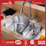 Bassin de cuisine, acier inoxydable sous le bassin de cuisine de cuvette de double de support avec Cupc reconnu